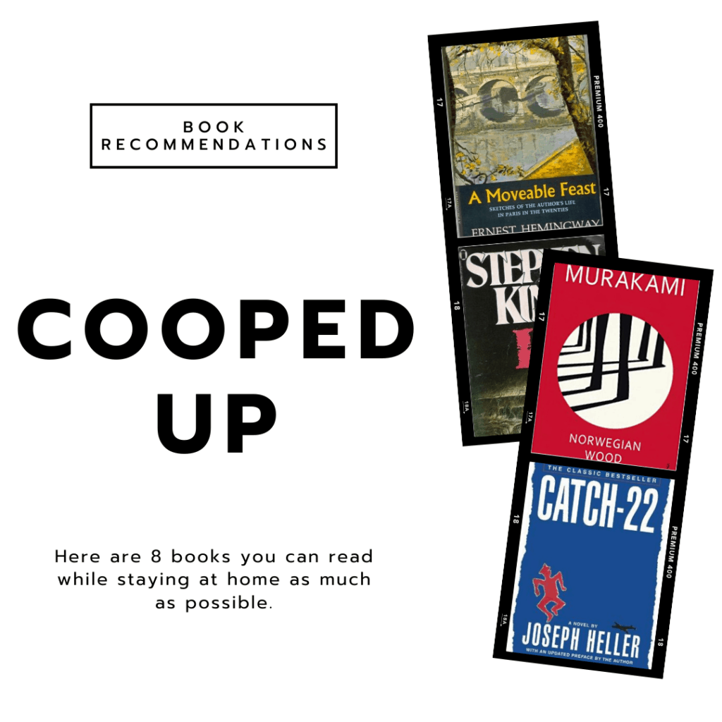Cooped up - book recommendations for college students stuck at home