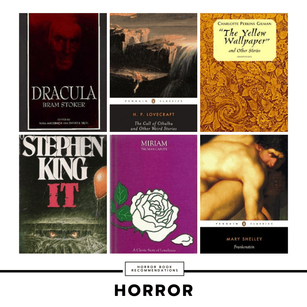 Horror book recommendations for college students