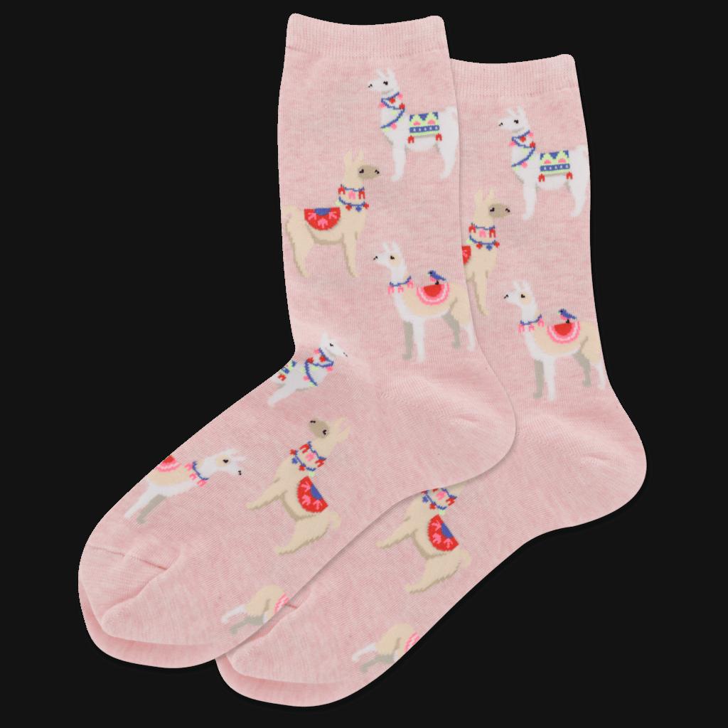 How to accessorize 2020: Light Pink Heather Alpaca Crew Socks