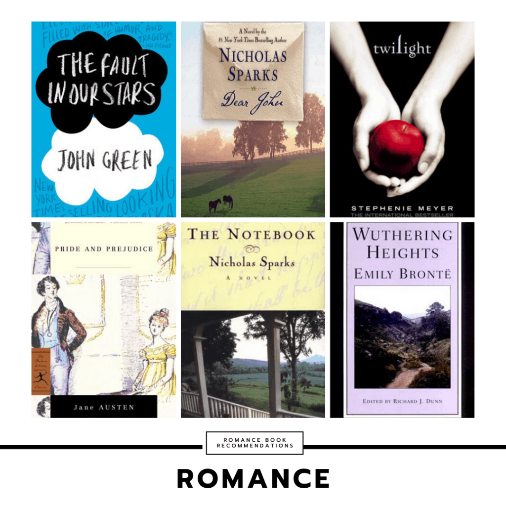 Romance book recommendations for college students