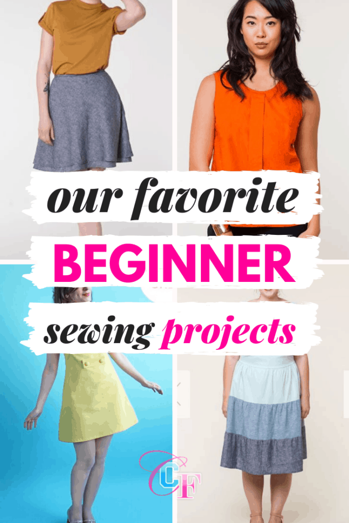 Favorite beginner sewing projects - roundup of easy to make clothing patterns for beginners