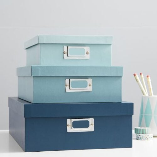 Product photo of a PBDorm set of storage boxes