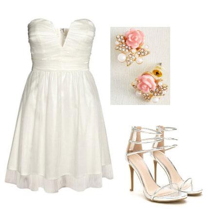 cinderella story fashion - princess look with white dress