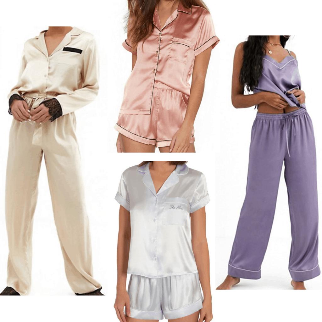 Pajama trends 2020: Satin pajama sets