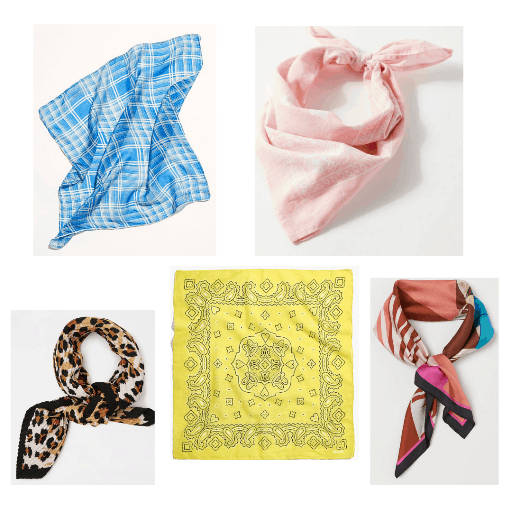 Roundup of cute square scarves for spring