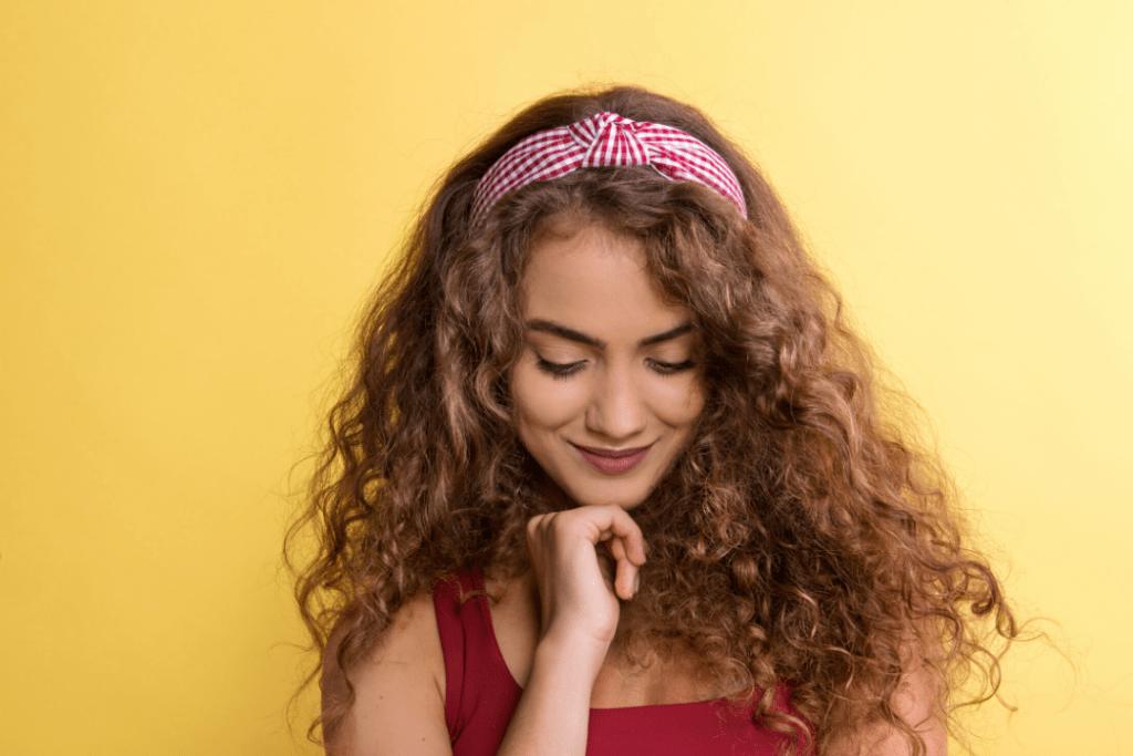 Woman wearing a headband