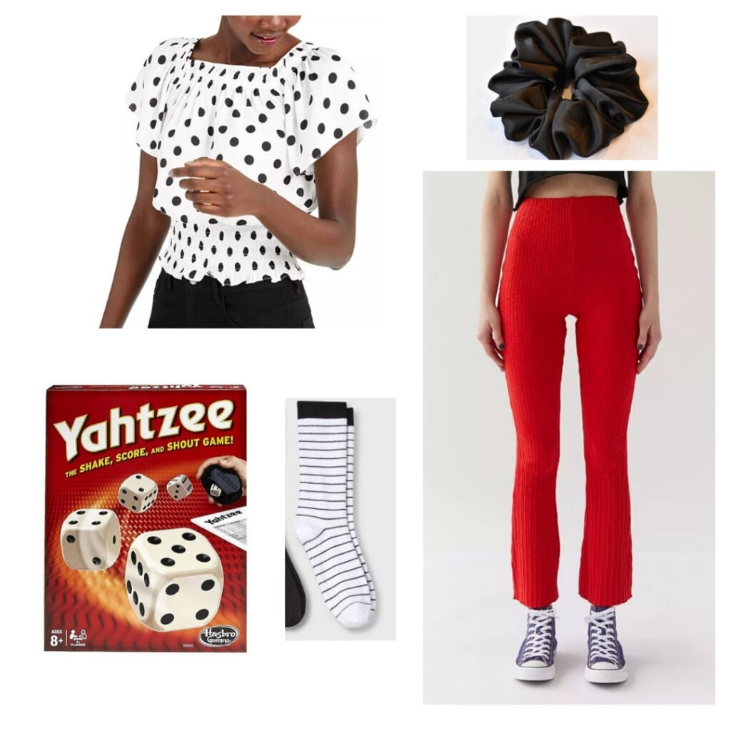 Yahtzee-inspired outfit.