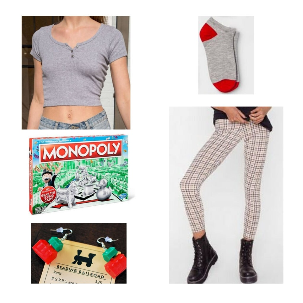 Monopoly-inspired outfit.