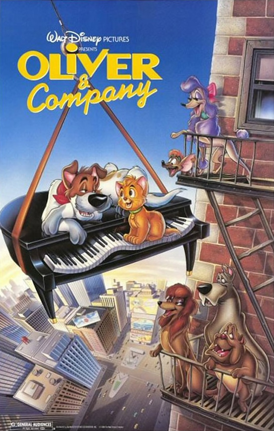 Disney's Oliver and Company movie poster