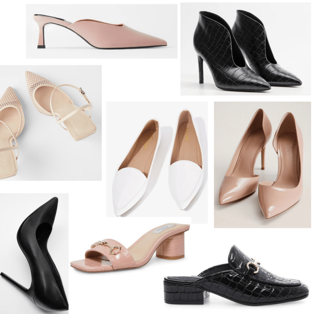 College girl shoes - roundup of professional shoes for work and interviews