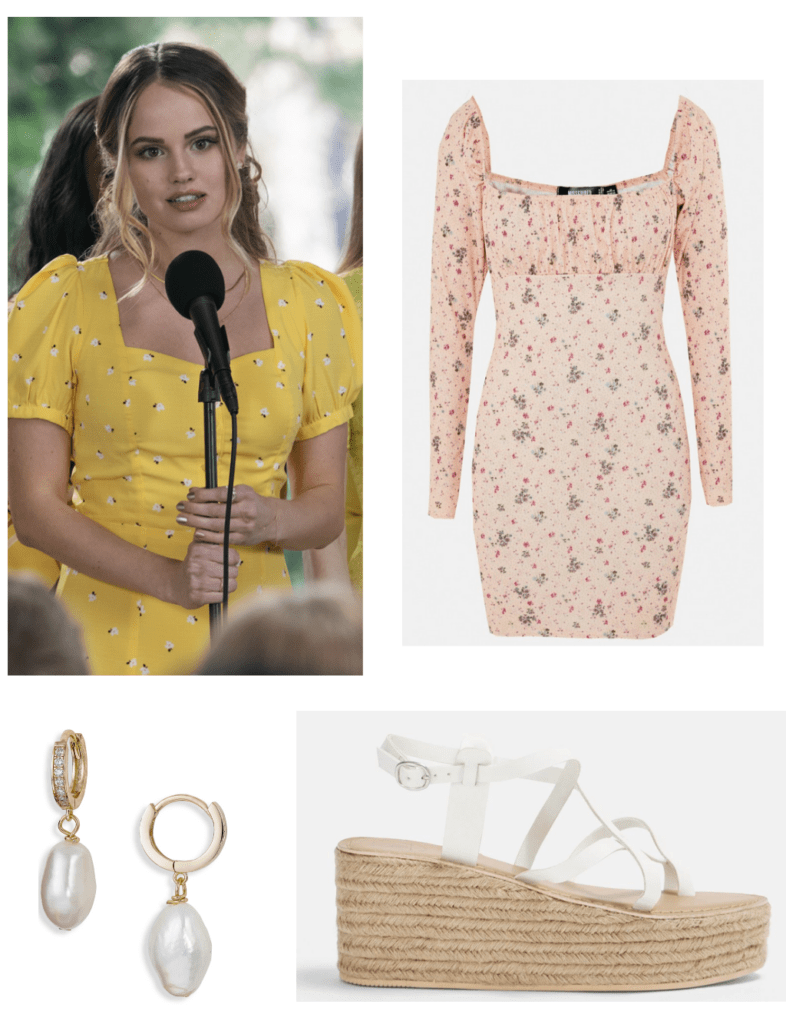 outfits inspired by Insatiable tv show College Fashion - Patty Bladell outfit with floral dress and sandals