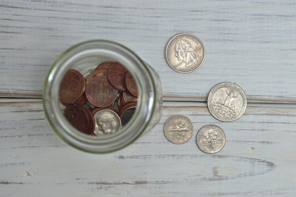 Stock photo of a tip jar