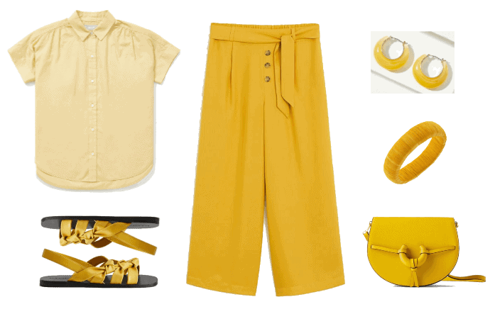 Three Chic Monochrome Outfits for Spring and Summer | Monochrome Outfit #1: Yellow