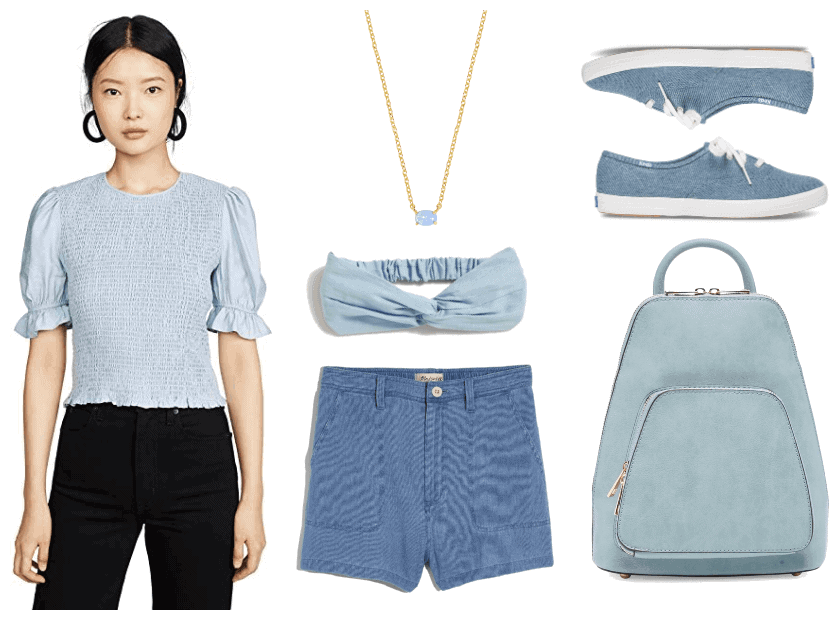 Three Chic Monochrome Outfits for Spring and Summer | Monochrome Outfit #2: Blue