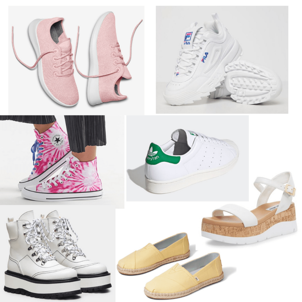 Shoes for college girls - A roundup of sneakers and everyday shoes for class