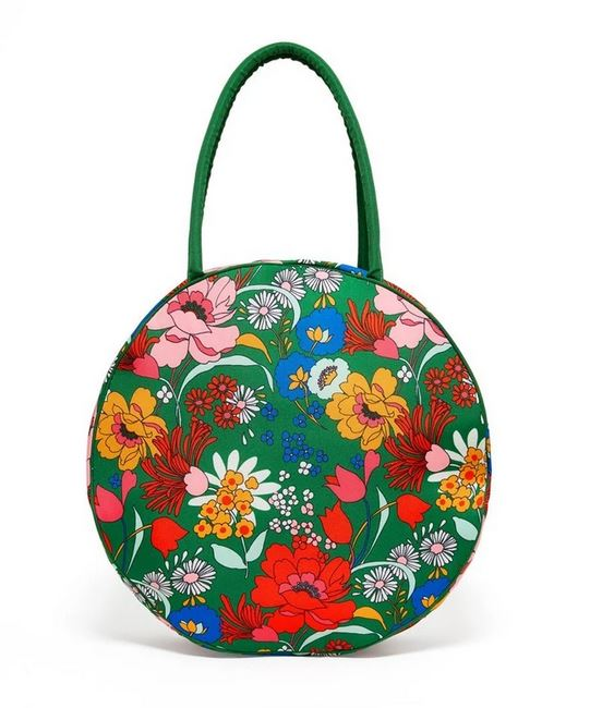 Mothers day gifts 2020: Green floral cooler bag.