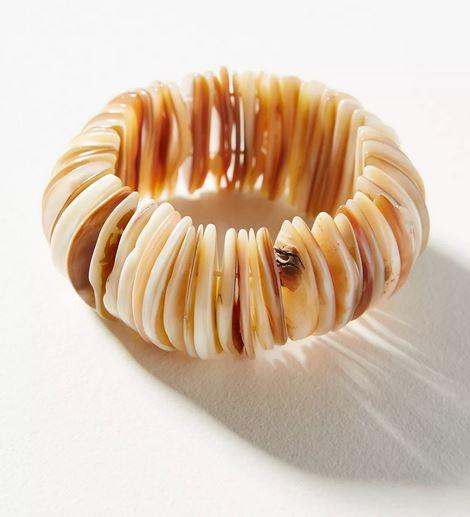 Shell bracelet.