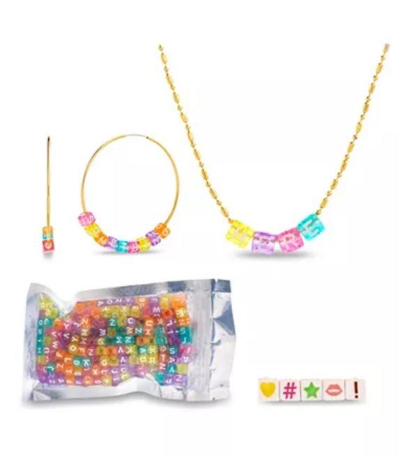 Letter bead jewelry kit.