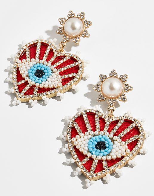 Eye earrings.