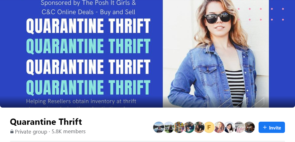 Screenshot of a Facebook thrifting group