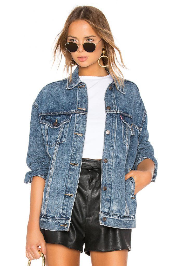 Baggy trucker jacket