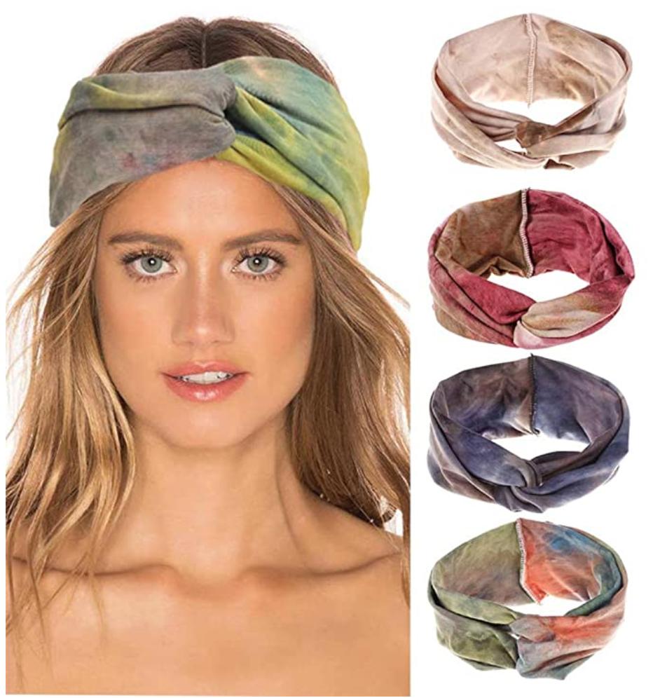 Tie dye hippie headwrap