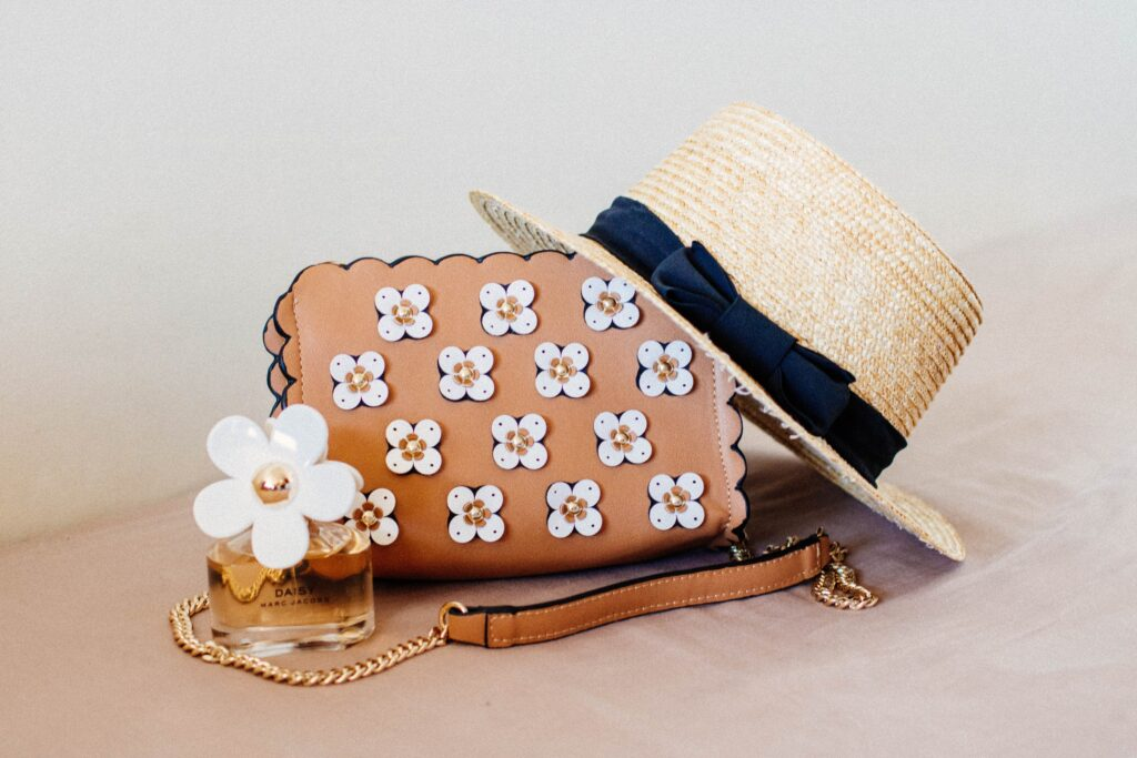 Stock photo of multiple daisy themed accessories