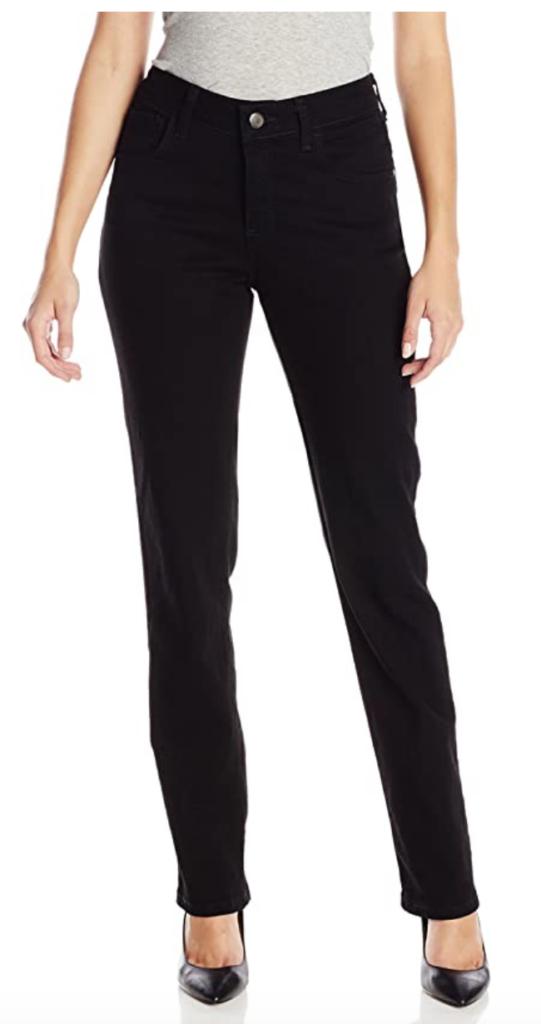 Classic style essentials: Black straight leg jeans