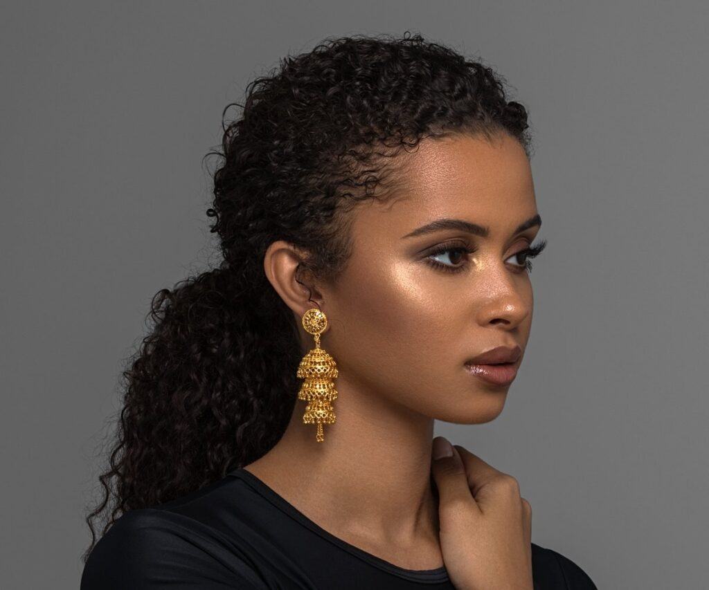 Black owned jewelry: Darya Earrings by BFYNE