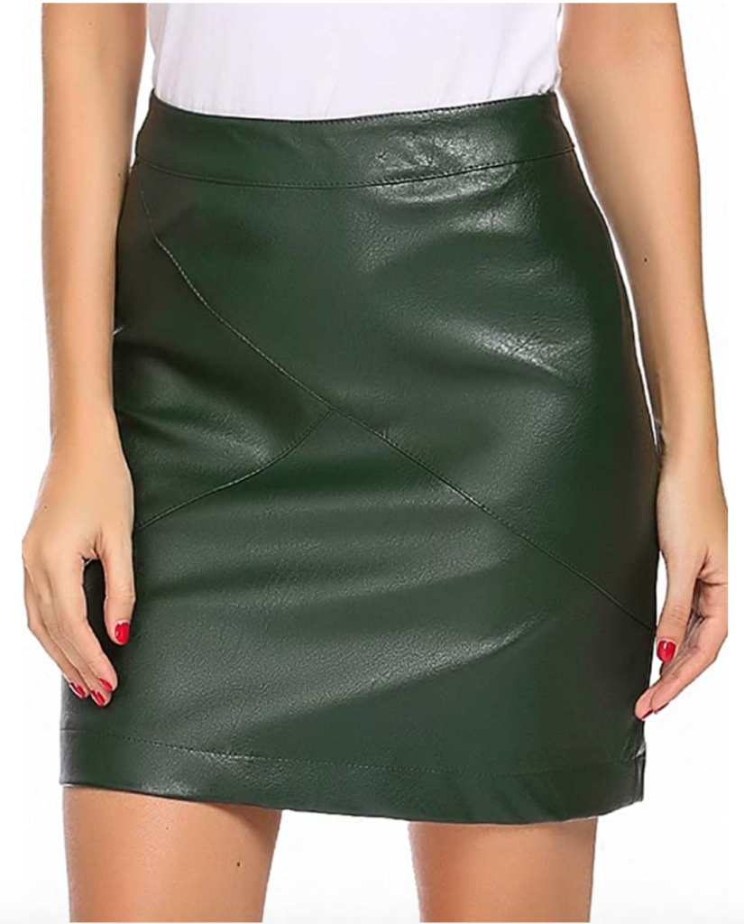 Green pencil skirt from Amazon