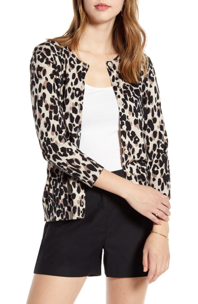 Leopard print cardigan for classic style