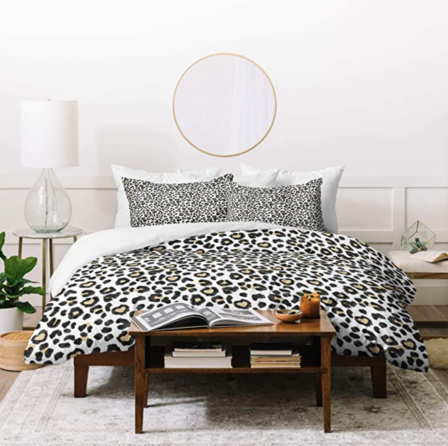 Leopard print duvet from Amazon