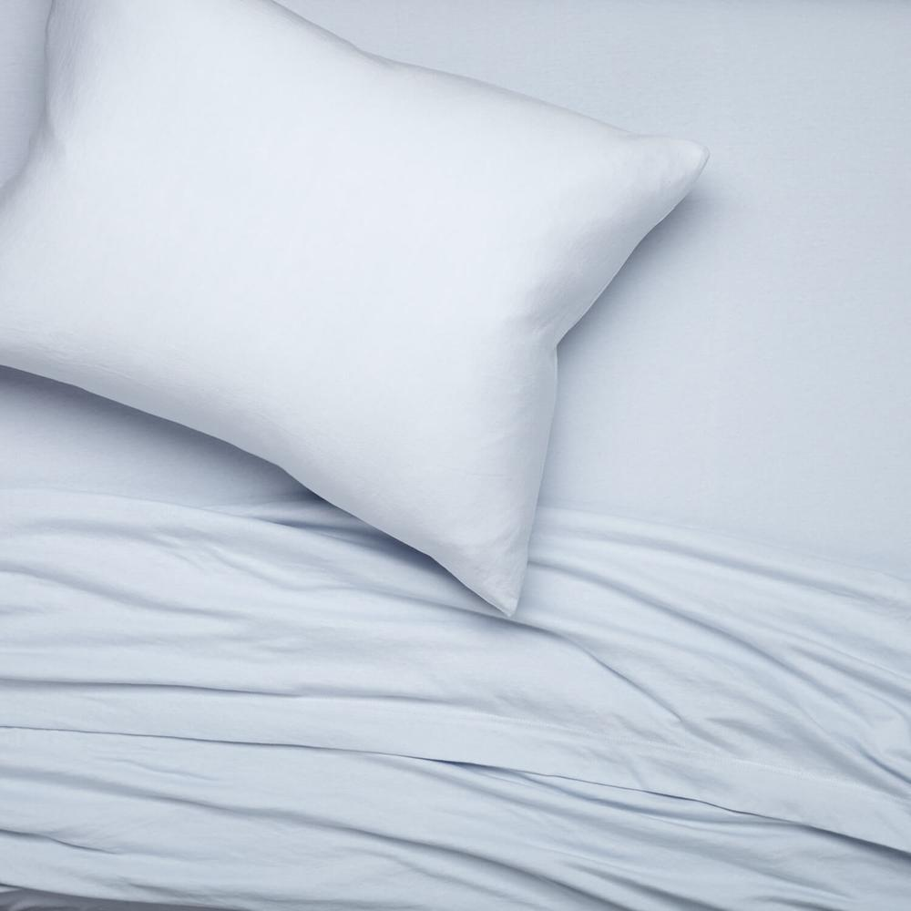 Light blue sheets from Dormify