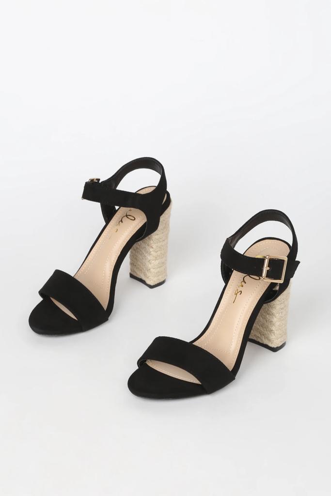 Lulus black espadrille sandals