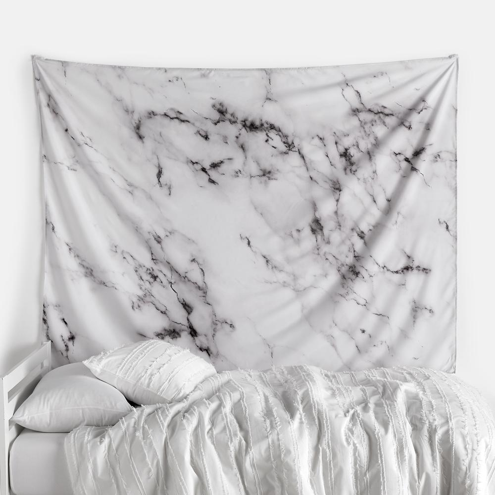 White marble wall tapestry