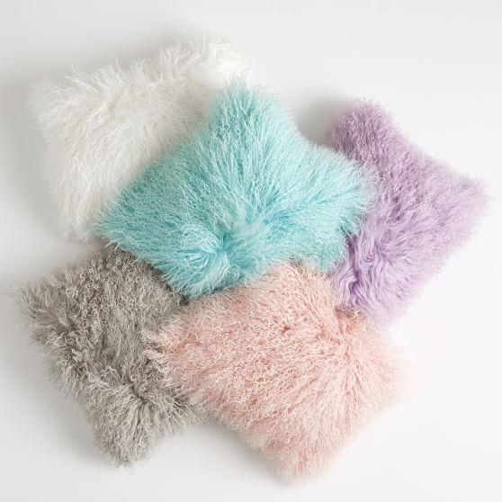 PBDorm mongolian fur pillow