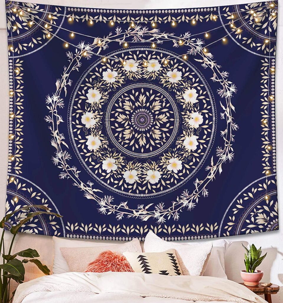 Navy wall tapestry from Amazon