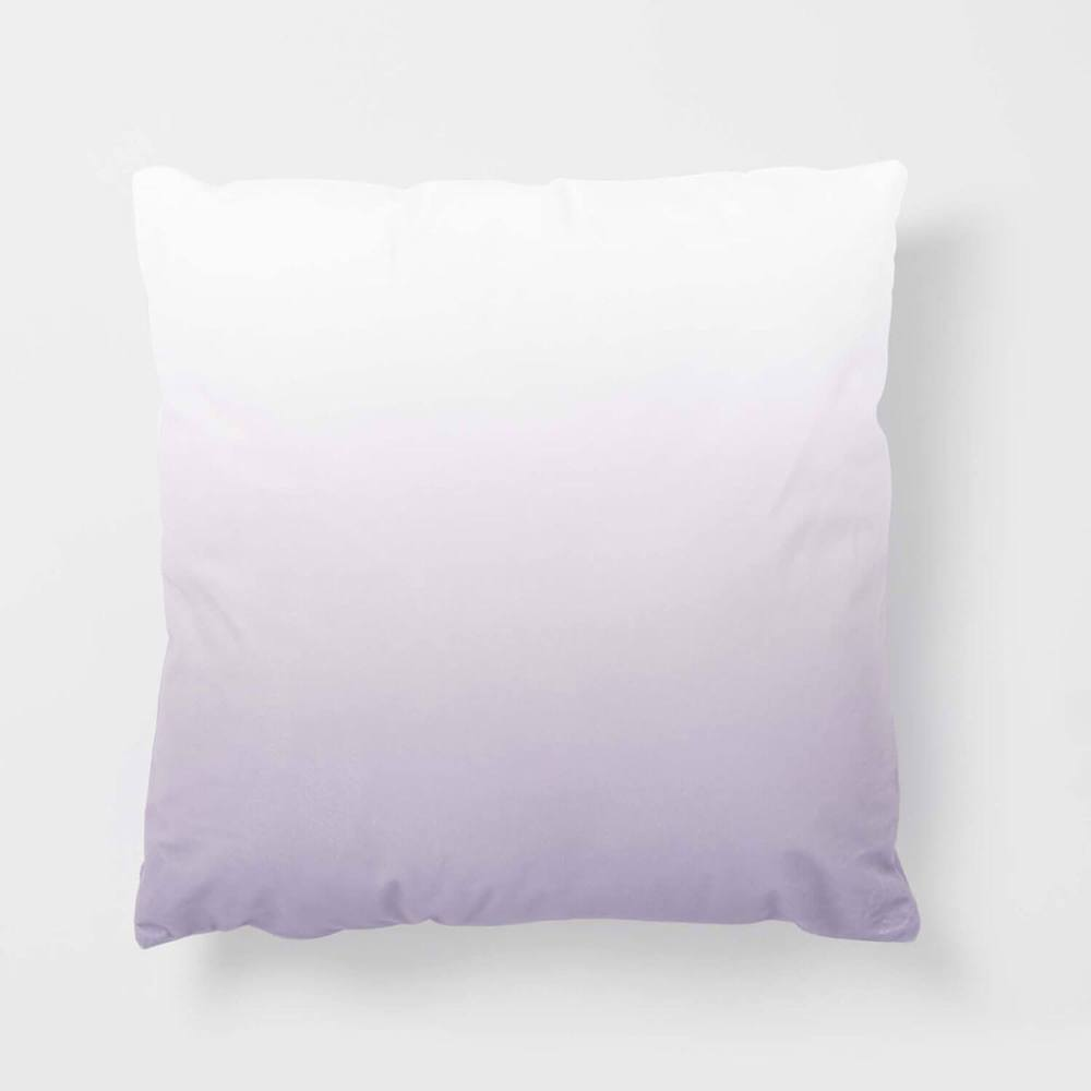 Purple and white ombré pillow for dorm rooms