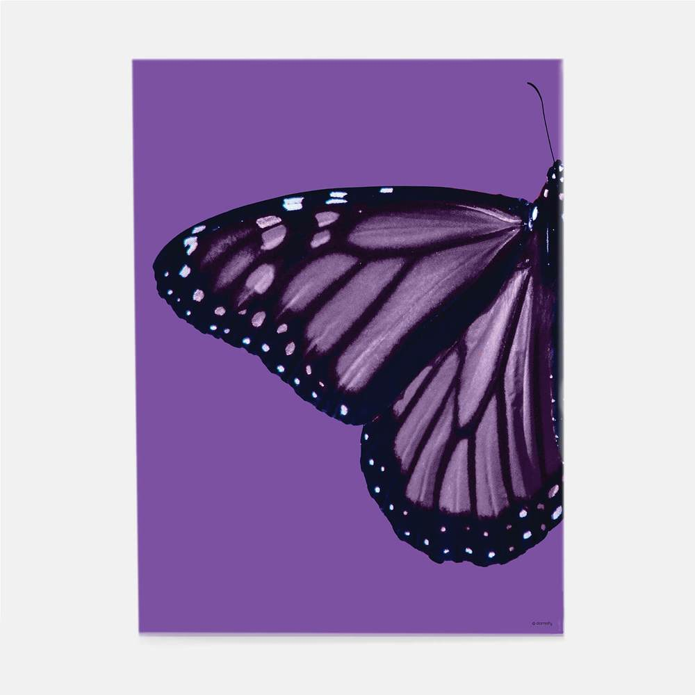 Purple butterfly print from Dormify