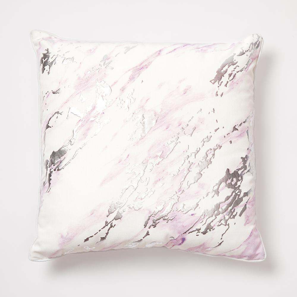 Purple and white marble print pillow from Dormify
