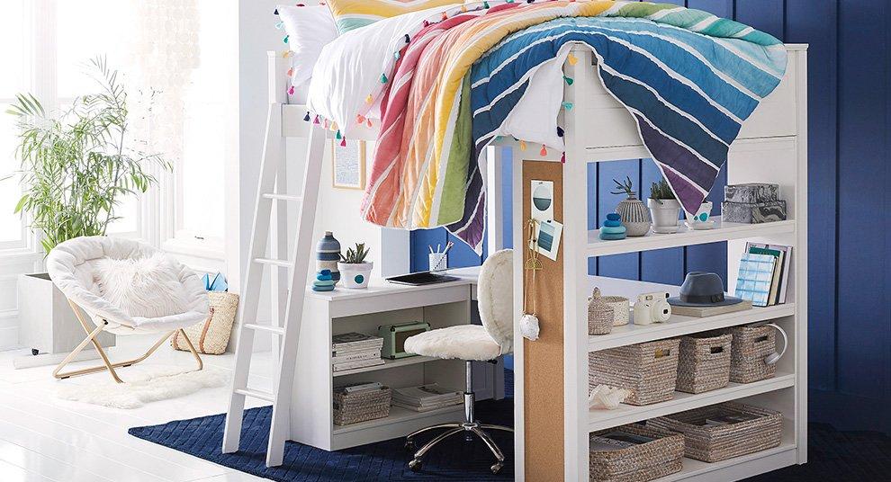 Rainbow dorm room from PBTeen
