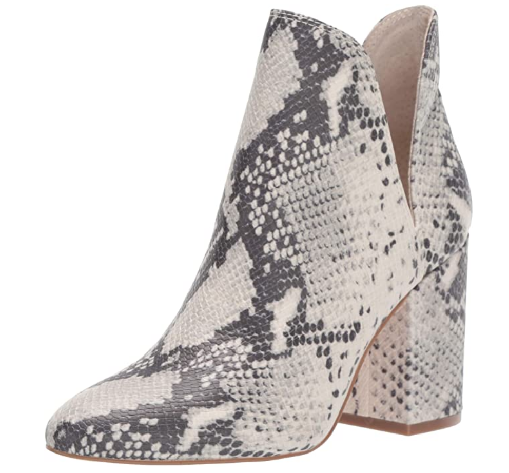 Snakeskin cutout ankle booties from Steve Madden
