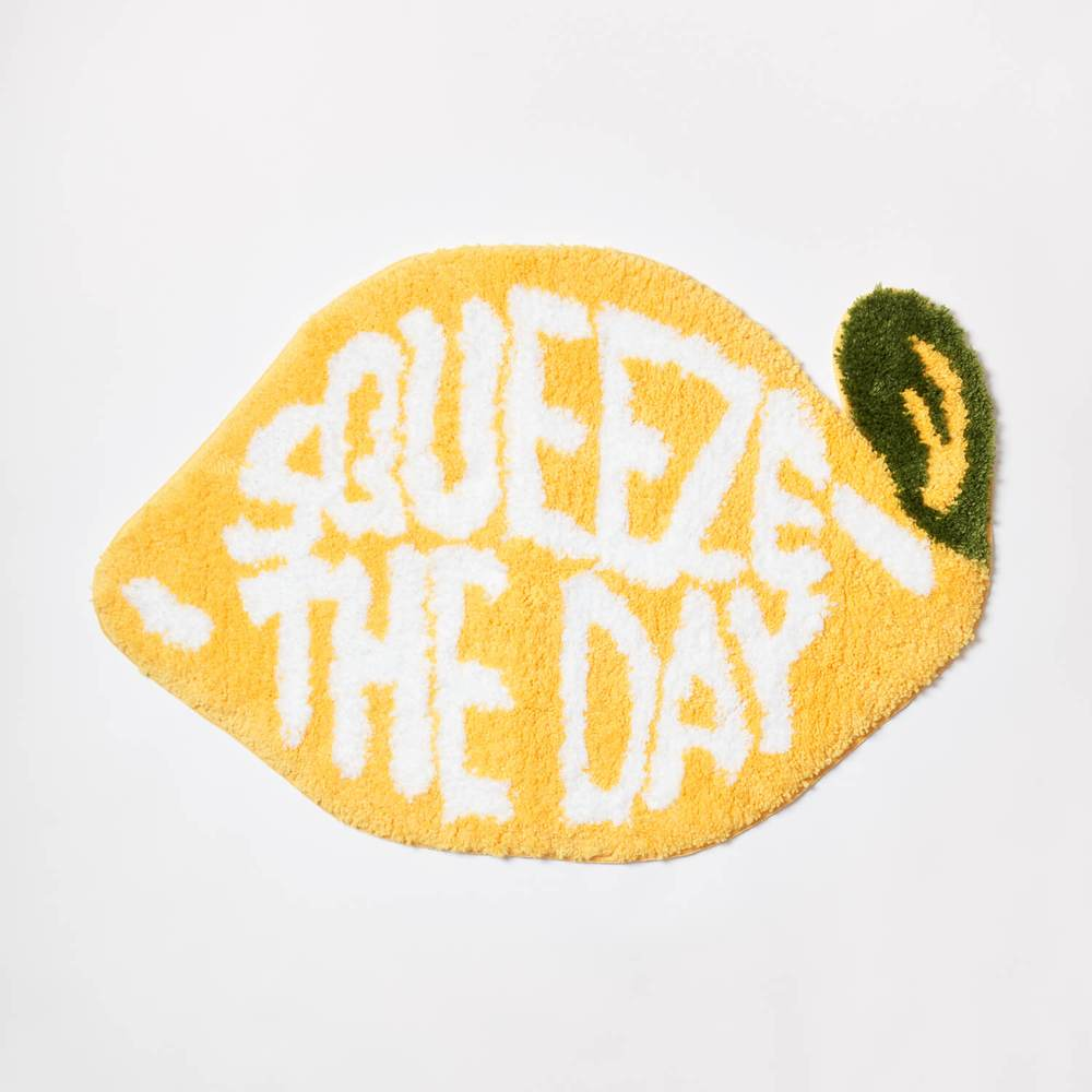 Squeeze the Day bath mat from Dormify