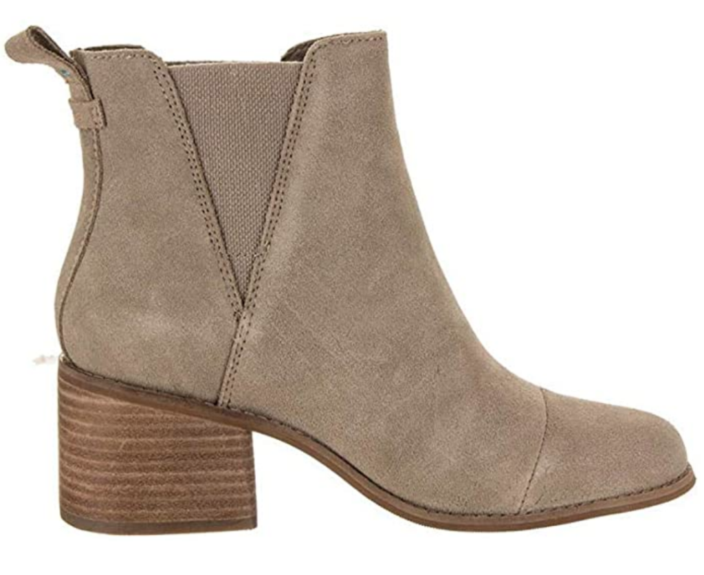TOMS taupe suede ankle booties