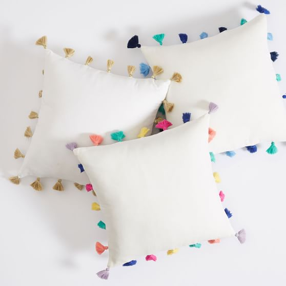 Tassel pillow cover from PBDorm