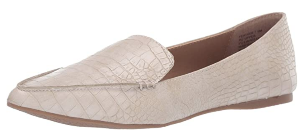 Taupe crocodile loafers from Steve Madden