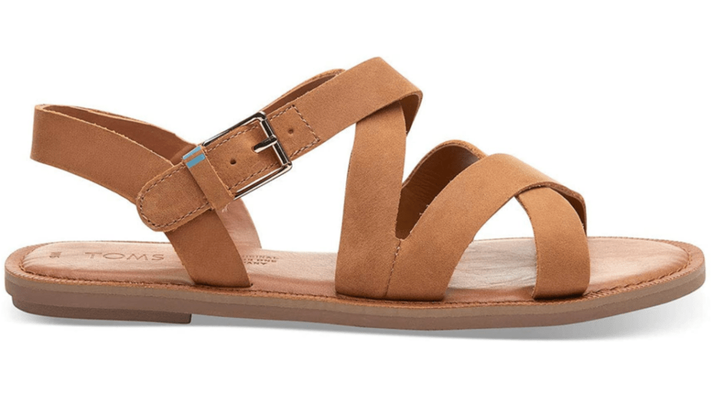 TOMS sandals in camel leather