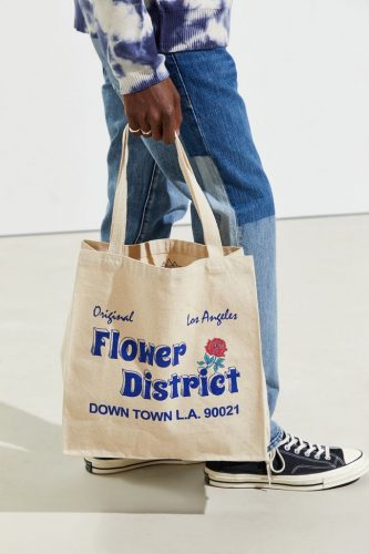 LA Flower District tote bag.