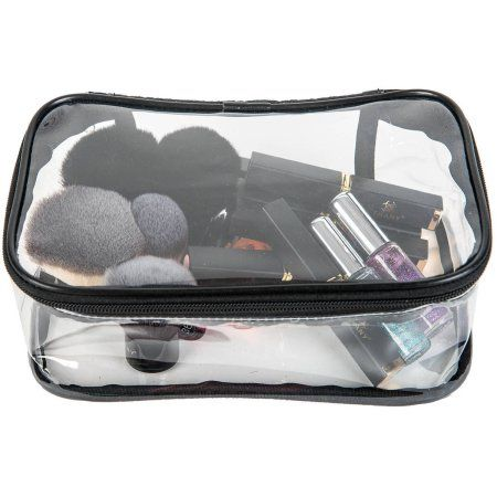 Clear makeup bag from Walmart