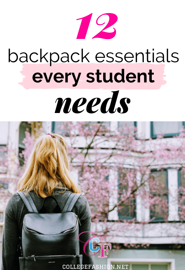12 backpack essentials every college student needs